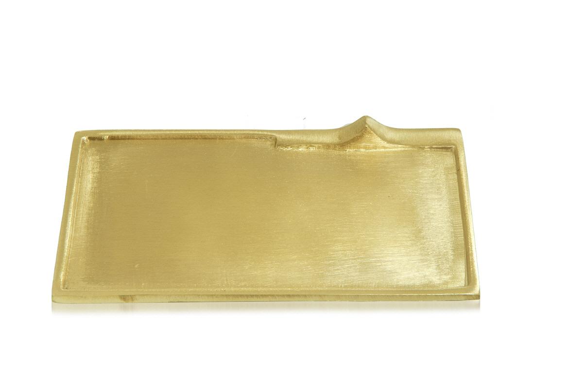 Dekoteller rechteckig gold kopschitz kerzen im kerzen store online shop grossartige kerzen - Dekoteller gold ...