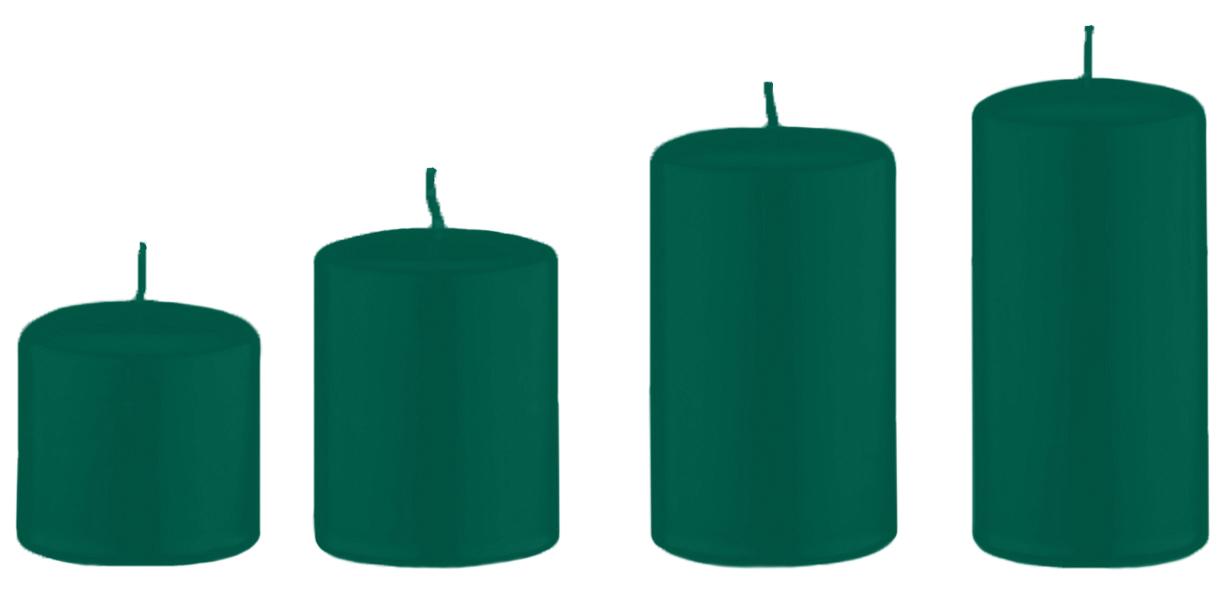 4er kerzen adventset abgestuft dunkelgr n 6 cm. Black Bedroom Furniture Sets. Home Design Ideas