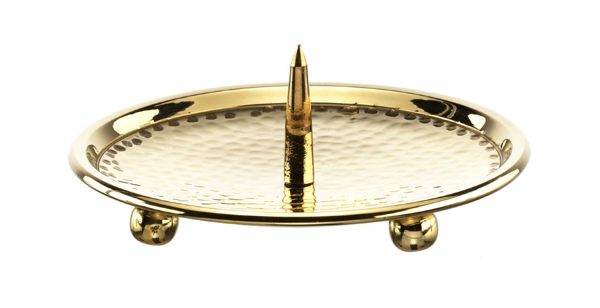 kerzenteller mit dorn gold 12 cm kopschitz kerzen im kerzen store online shop grossartige. Black Bedroom Furniture Sets. Home Design Ideas